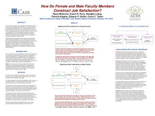How Do Female and Male Faculty Members Construct Job Satisfaction?
