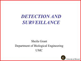 DETECTION AND SURVEILLANCE