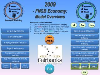 2009 - FNSB Economy: Model Overviews