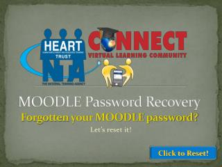 MOODLE Password Recovery Forgotten  your MOODLE password?
