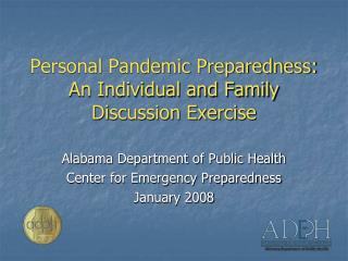 Personal Pandemic Preparedness: An Individual and Family Discussion Exercise