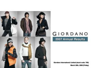 Giordano International Limited (stock code: 709) March 28th, 2008 (Friday)