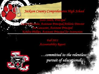 Jackson County Comprehensive High School Scott Smith, Principal