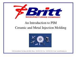 An Introduction to PIM Ceramic and Metal Injection Molding