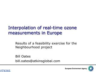 Interpolation of real-time ozone measurements in Europe