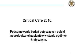 Critical Care 2010.