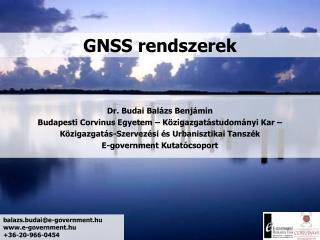 GNSS rendszerek