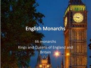 English Monarchs