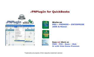 Works on  PRO  –  PREMIER  –  ENTERPRISE 2005 & Newer