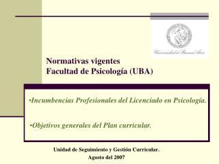 Incumbencias Profesionales del Licenciado en Psicología.