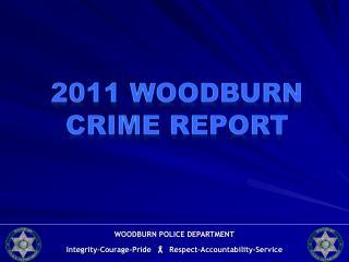 2011 Woodburn Crime  Report