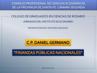 COLEGIO DE GRADUADOS EN CIENCIAS DE ROSARIO - JORNADAS DEL INSTITUTO DE ECONOM�A -
