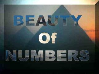 BEAUTY Of NUMBERS