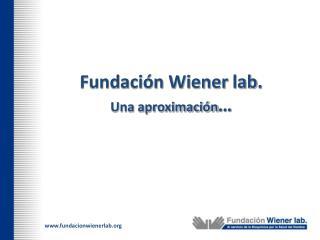 Fundación Wiener  lab . Una aproximación …
