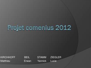 Projet  comenius  2012