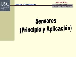 Sensores (Principio y Aplicación)