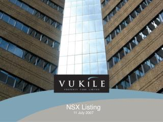 NSX Listing 11 July 2007