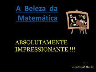 A  Beleza  da  Matemática