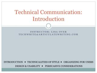 Technical Communication: Introduction