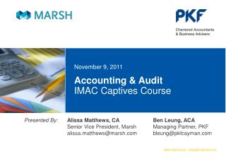 Accounting & Audit IMAC Captives Course