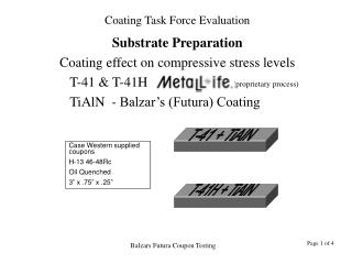 Substrate Preparation Coating effect on compressive stress levels