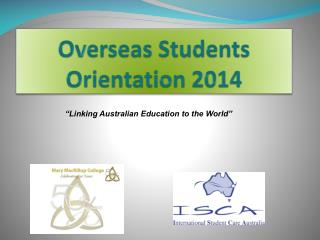 Overseas Students Orientation 2014