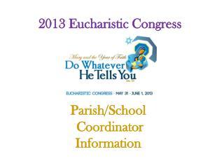 2013 Eucharistic Congress