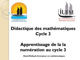 Didactique des math�matiques Cycle 3 Apprentissage de la  la  num�ration au cycle 3