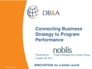 Connecting Business Strategy to Program Performance
