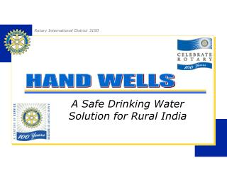 A Safe Drinking Water Solution for Rural India