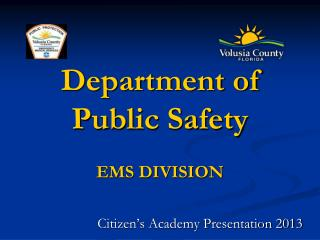 Department of  Public Safety EMS DIVISION