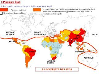 LA DIVERSITE DES SUDS