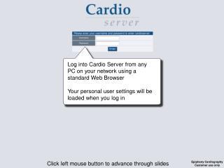 Click left mouse button to advance through slides