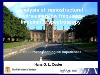 Analysis of  nanostructural layers using low frequency impedance spectroscopy
