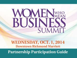 Downtown Richmond Marriott |October 1, 2014| 8:00am – 3:30pm