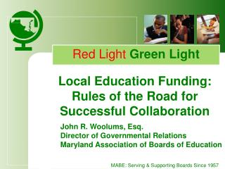 Local Education Funding:  Rules of the Road for Successful Collaboration