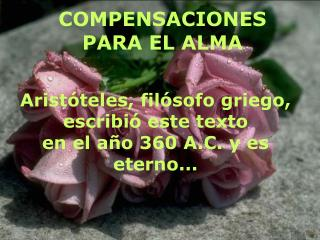 COMPENSACIONES PARA EL ALMA