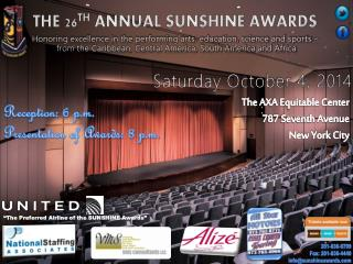 THE 26 TH  ANNUAL SUNSHINE AWARDS