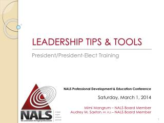 LEADERSHIP TIPS & TOOLS