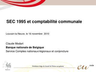 SEC 1995 et comptabilité communale