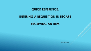 CREATING  A  REQUISITION