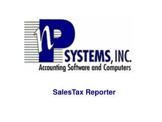 SalesTax Reporter