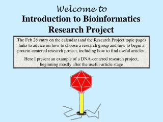 Introduction to Bioinformatics Research Project