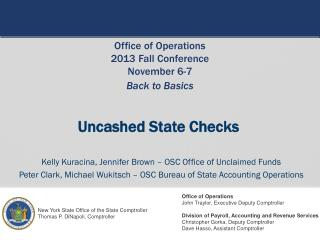 Uncashed  State Checks