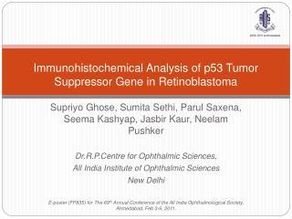 Immunohistochemical Analysis of p53 Tumor Suppressor Gene in Retinoblastoma