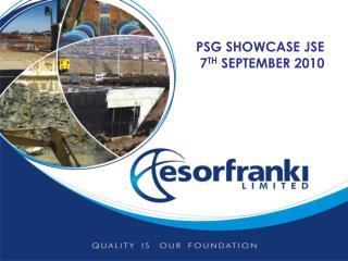 PSG SHOWCASE JSE  7 TH  SEPTEMBER 2010