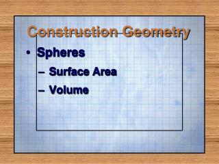 Construction Geometry