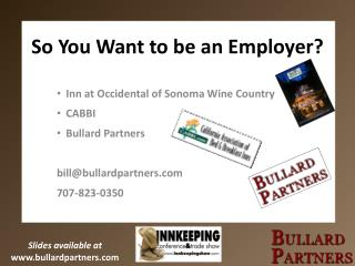 So You Want to be an Employer?