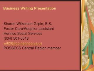 Business Writing Presentation