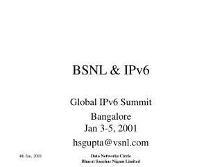 BSNL  IPv6